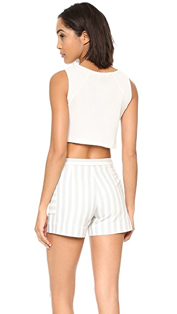 Edith A. Miller Julia Pocket Crop Top