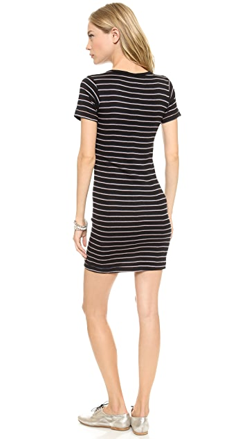 Edith A. Miller Short Sleeve Crew Mini Dress