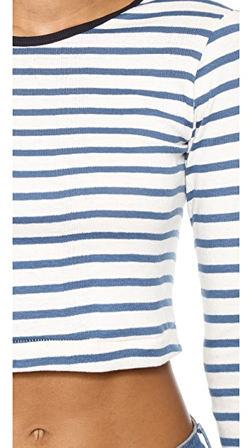 Edith A. Miller Long Sleeve Crop Top