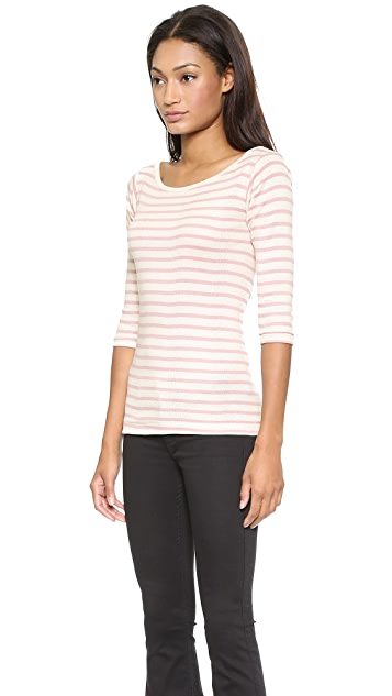 Edith A. Miller Boat Neck 3/4 Tee