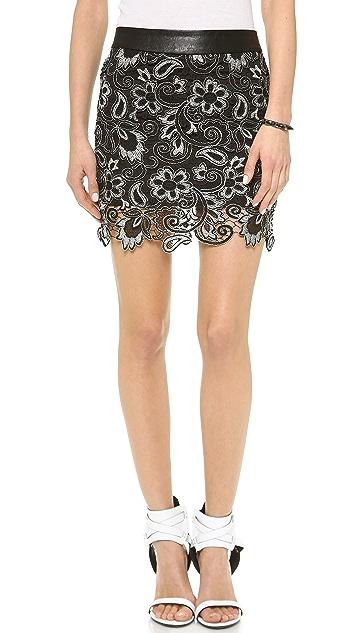 endless rose Textured Miniskirt