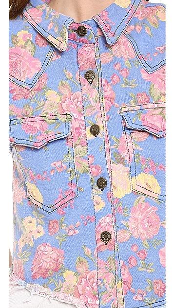 endless rose Flora Print Vest