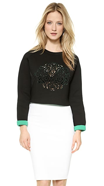 endless rose Neoprene Cutout Top