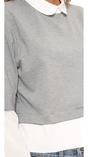 endless rose Collared Shirting Pullover