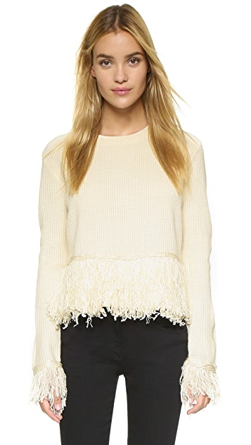 endless rose Fringe Sweater