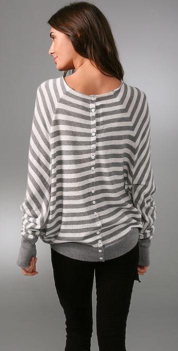 Enza Costa Cotton Cashmere Reversible Cardigan