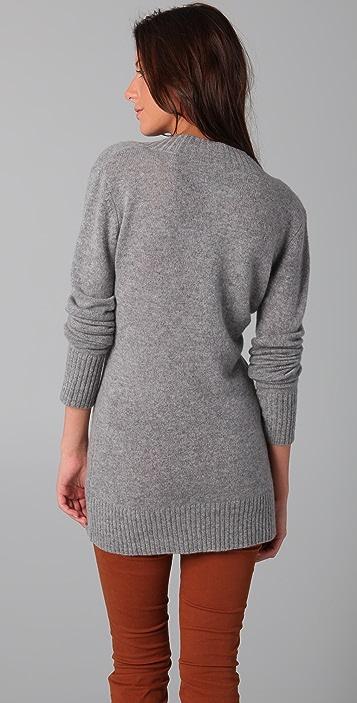 Enza Costa Bold V Cashmere Sweater