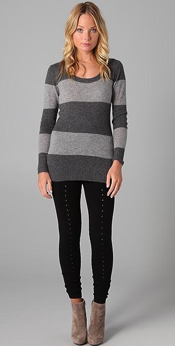 Enza Costa Striped Cashmere Sweater