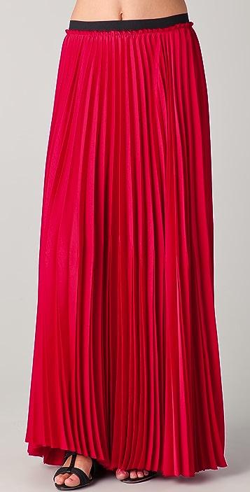 Enza Costa Pleated Maxi Skirt