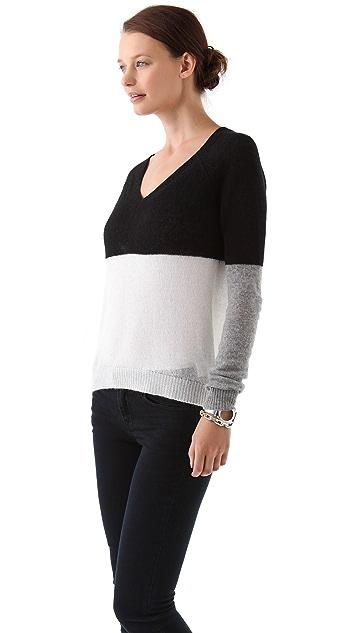 Enza Costa Cashmere V Neck Sweater