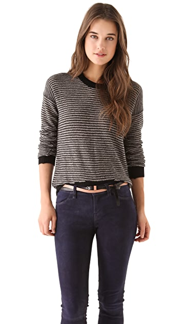 Enza Costa Cashmere Stripe Sweater