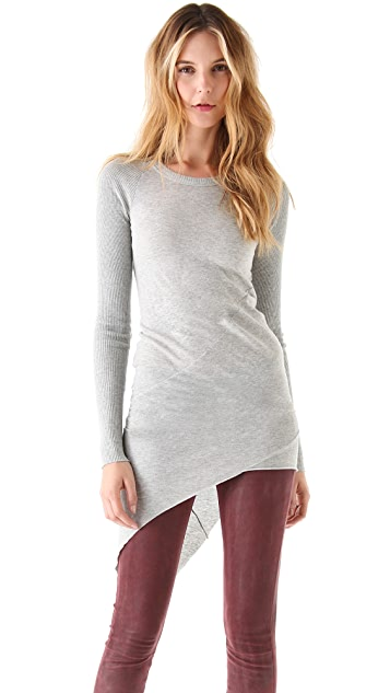 Enza Costa Asymmetrical Sweater