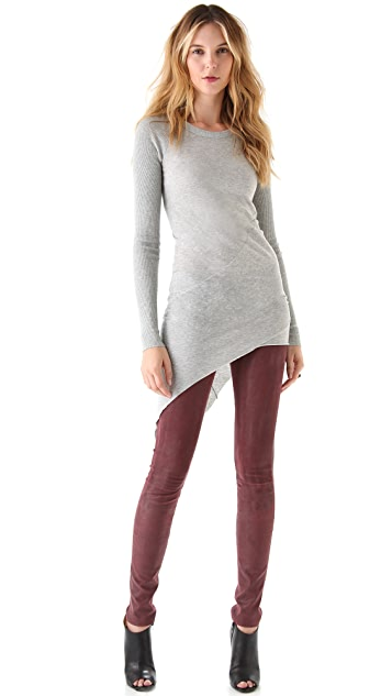 Enza Costa Asymmetrical Sweater