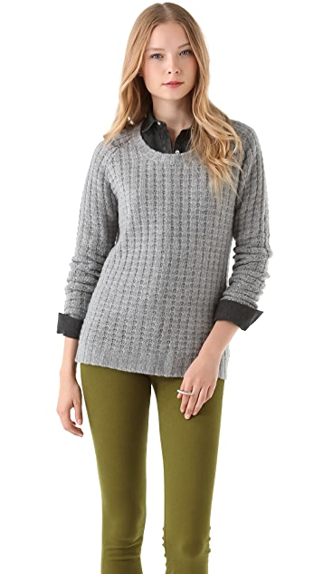 Enza Costa Cashmere Thermal Crew Sweater