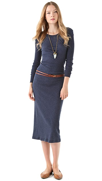 Enza Costa Jersey Crew Dress with Thumbholes