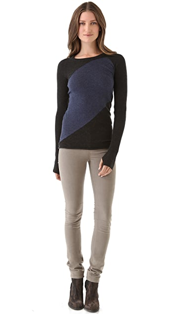 Enza Costa Colorblock Sweater