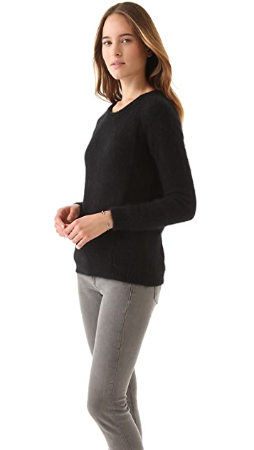 Enza Costa Angora Crew Sweater