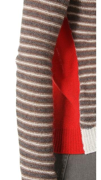 Enza Costa Cashmere Colorblock Sweater