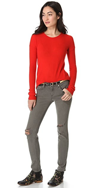 Enza Costa Cashmere Crew Sweater