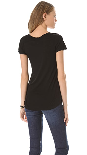 Enza Costa Rib Panel Short Sleeve Tee