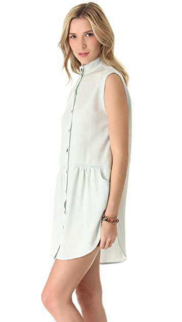 Enza Costa Sleeveless Shirtdress