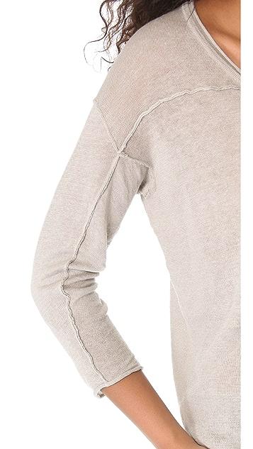 Enza Costa Linen Loose V Pullover