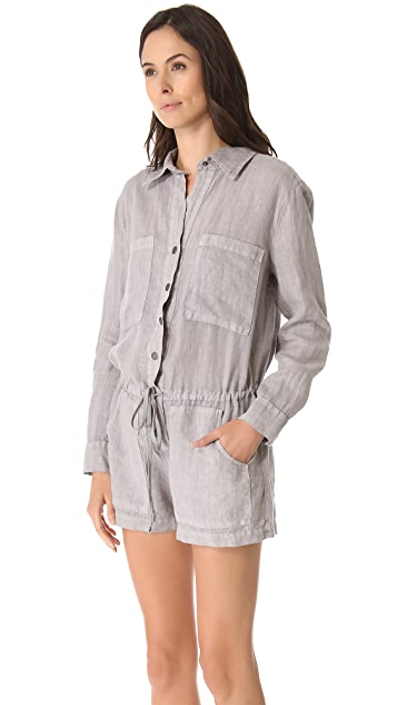 Enza Costa Long Sleeve Romper