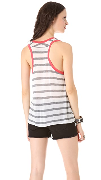 Enza Costa Striped Racer Tank