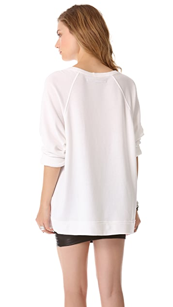 Enza Costa Long Sleeve Raglan Sweatshirt