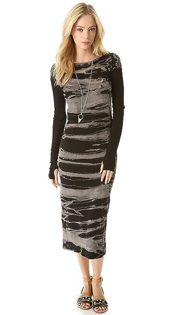 Enza Costa Soft Cuffed Sleeve Dress