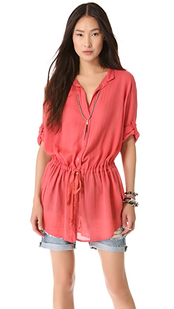 Enza Costa Drawstring Tunic