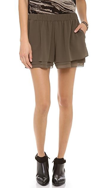 Enza Costa Chiffon Layered Shorts