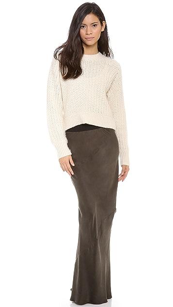 Enza Costa Silk Twist Seam Skirt