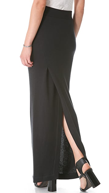 Enza Costa Slit Maxi Skirt
