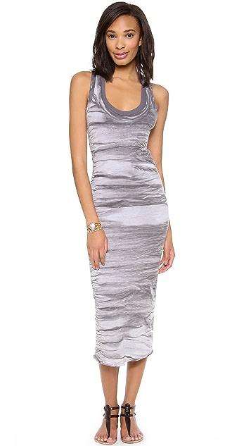 Enza Costa Bold Double Racer Maxi Dress