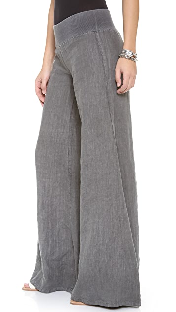 Enza Costa Linen Wide Leg Pants