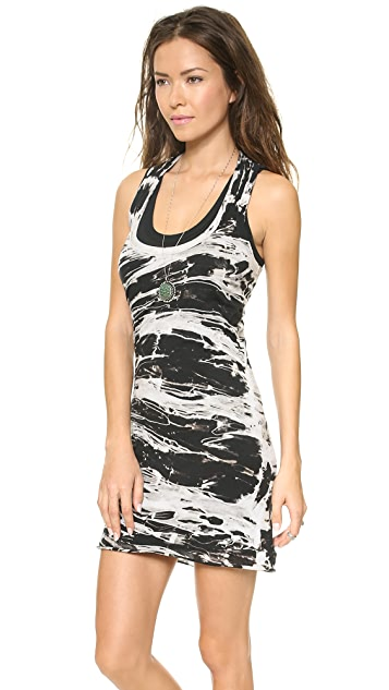 Enza Costa Bold Doubed Racer Mini Dress