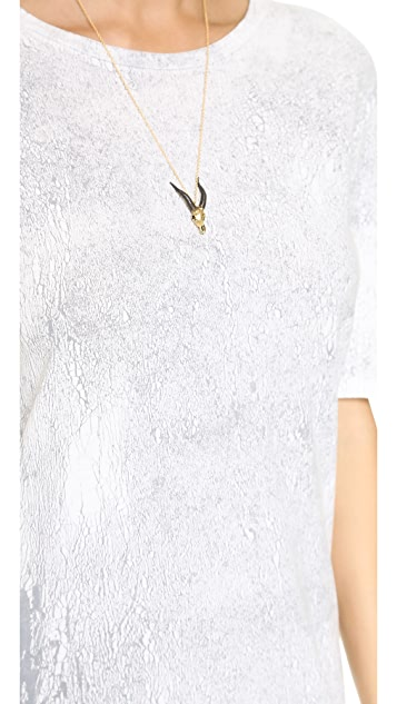 Enza Costa Short Sleeve High Low Dress