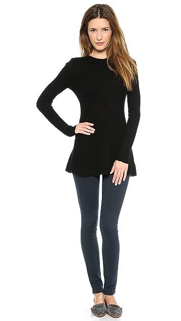 Enza Costa Merino Rib Tunic Sweater