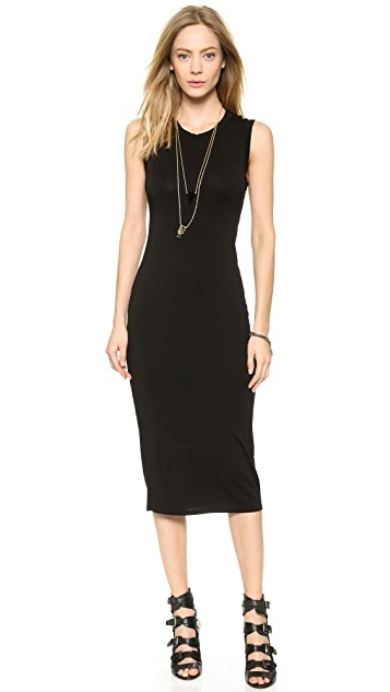 Enza Costa Twist Back Midi Dress
