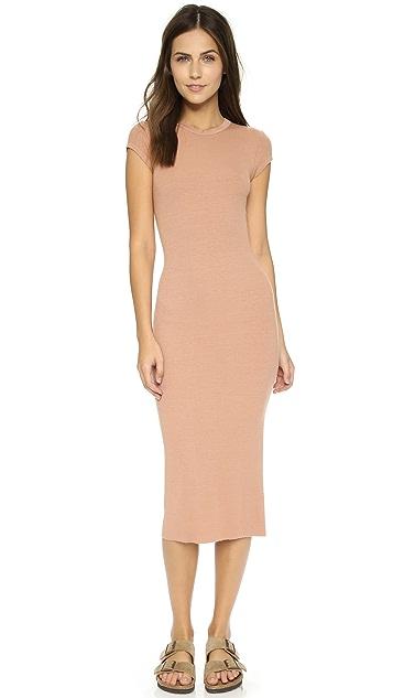 Enza Costa Ribbed Cap Sleeve Dress