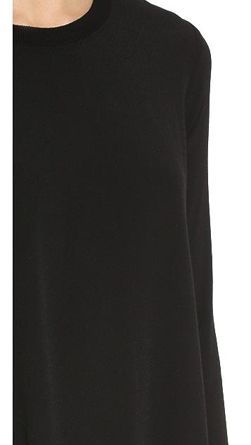 Enza Costa Crepe Trapeze Dress
