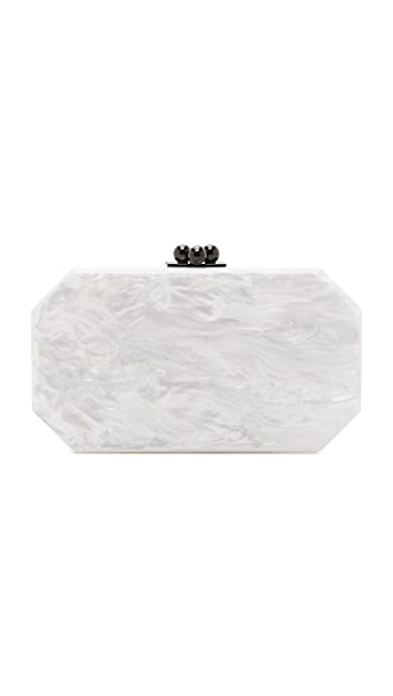 Edie Parker Fiona Faceted Clutch