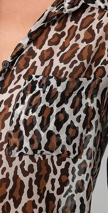 Equipment Sydney Leopard Print Blouse