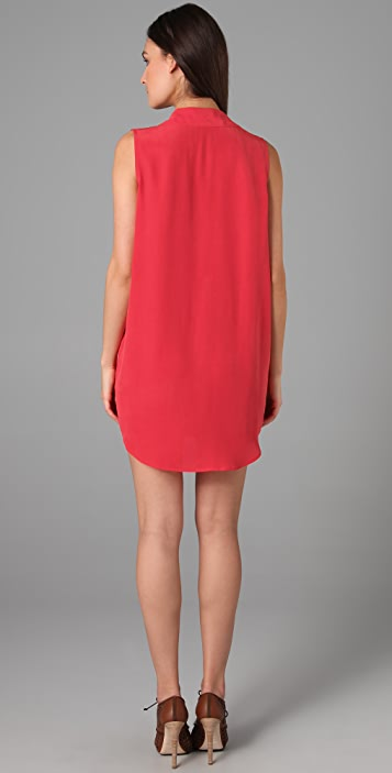 Equipment Sleeveless Signature Dress