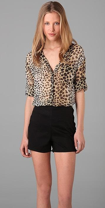 Equipment Daddy Leopard Shirt