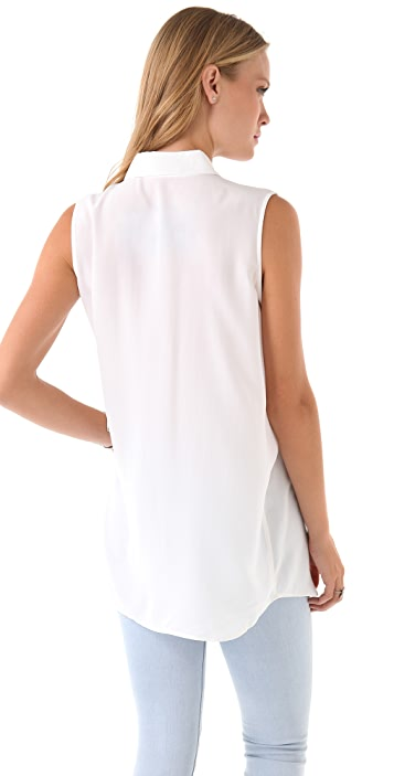 Equipment Signature Sleeveless Blouse