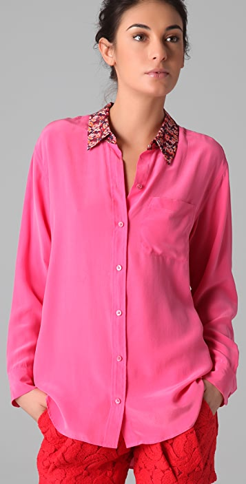 Equipment Daddy Blouse With Poppy Collar