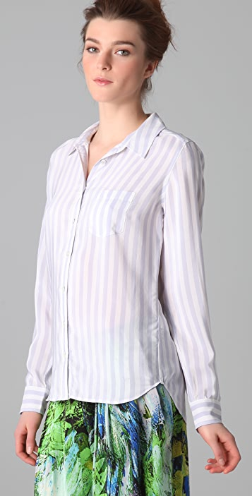 Equipment Brett Jagger Stripe Blouse