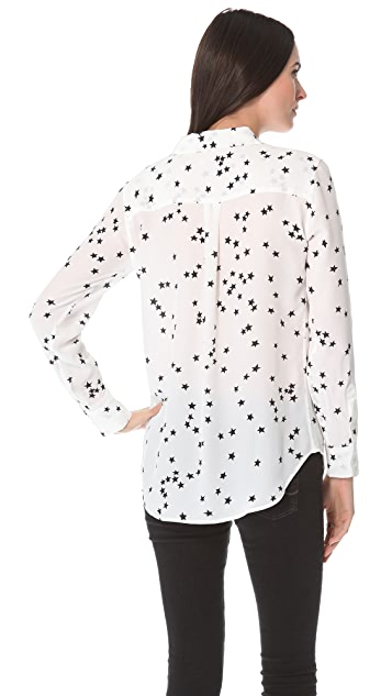118e78e532c8f ... Equipment Starry Night Slim Signature Blouse ...